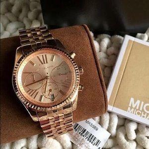 MK Women's MK5569 'Lexington' Rose Gold-Tone Watch